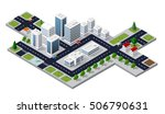 isometric 3d cityscape view of... | Shutterstock . vector #506790631