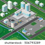 isometric 3d airstrip of the... | Shutterstock . vector #506793289