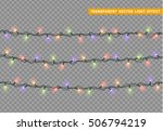garlands  christmas decorations ... | Shutterstock .eps vector #506794219