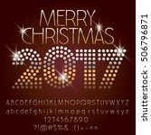 vector shiny merry christmas... | Shutterstock .eps vector #506796871