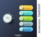 modern infographic design... | Shutterstock .eps vector #506803345