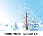 winter christmas holiday... | Shutterstock .eps vector #506805121