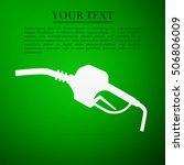 gasoline pump nozzle sign. gas...