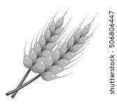 stalks of barley icon. gray... | Shutterstock .eps vector #506806447