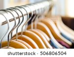 closeup of a lot of wooden... | Shutterstock . vector #506806504