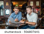 relax in the bar after a hard... | Shutterstock . vector #506807641
