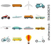 transport icons set. flat... | Shutterstock .eps vector #506808295