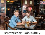 two confident male  sitting in... | Shutterstock . vector #506808817