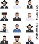 different jewish people... | Shutterstock .eps vector #506811121