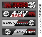 black friday sale. web banners. ... | Shutterstock .eps vector #506816539