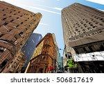 new york city hand drawn.... | Shutterstock .eps vector #506817619