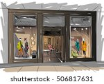 fashion store hand drawn sketch ... | Shutterstock .eps vector #506817631
