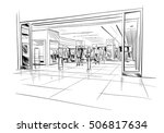 fashion store hand drawn sketch ... | Shutterstock .eps vector #506817634