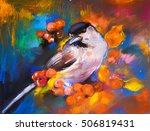 pastel painting on a cardboard. ... | Shutterstock . vector #506819431