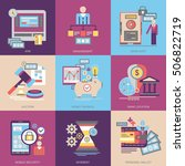 flat vector icons. banking and... | Shutterstock .eps vector #506822719