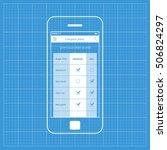 mobile app single screen ui kit....   Shutterstock .eps vector #506824297