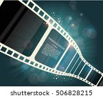 film strip roll. vector cinema... | Shutterstock .eps vector #506828215