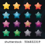 vector star icons set. colorful ... | Shutterstock .eps vector #506832319
