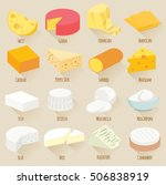 popular kind of cheese. flat... | Shutterstock .eps vector #506838919