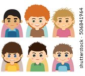 male man character faces... | Shutterstock . vector #506841964
