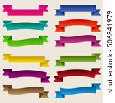 set of  colorful empty ribbons... | Shutterstock . vector #506841979