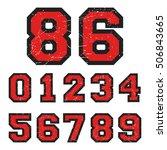 t shirt print design. set of... | Shutterstock .eps vector #506843665
