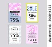 sale website banners design set.... | Shutterstock .eps vector #506846935