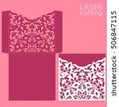 die laser cut wedding card... | Shutterstock .eps vector #506847115