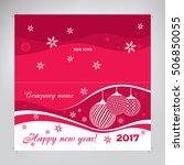 christmas card  design for new... | Shutterstock .eps vector #506850055