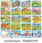 big set of different wild... | Shutterstock . vector #506850199