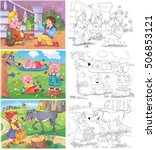small set of fairy tale... | Shutterstock . vector #506853121