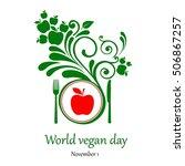 world vegetarian day. november... | Shutterstock . vector #506867257