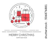 christmas and new year banner... | Shutterstock .eps vector #506876881