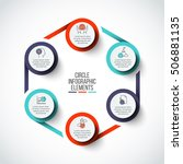 vector circle infographic....   Shutterstock .eps vector #506881135