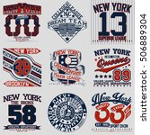 set of t shirt graphic designs  ... | Shutterstock .eps vector #506889304