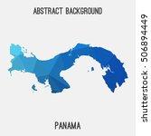 panama map in geometric...   Shutterstock .eps vector #506894449