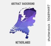 netherlands holland map in... | Shutterstock .eps vector #506894497