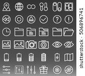 general icons set vector... | Shutterstock .eps vector #506896741