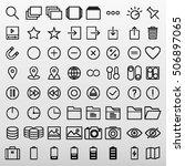 general icons set vector... | Shutterstock .eps vector #506897065