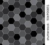 hexagonal vector monochrome...   Shutterstock .eps vector #506900851