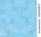 geometrical blue seamless...   Shutterstock .eps vector #506900875