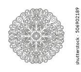 outline mandala for coloring... | Shutterstock .eps vector #506902189