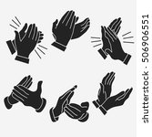 applause  clapping hands set.... | Shutterstock .eps vector #506906551