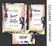 save the date freehand card... | Shutterstock .eps vector #506907151