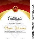 vertical certificate template ...   Shutterstock .eps vector #506909065