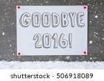label on cement wall ... | Shutterstock . vector #506918089