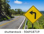 road sign indicating left turn | Shutterstock . vector #506918719