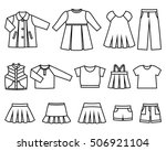 Set Of Line Icons Children's...