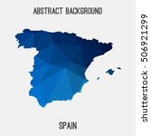 spain map in geometric... | Shutterstock .eps vector #506921299