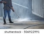 cleaning with high pressure... | Shutterstock . vector #506922991